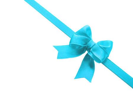 Festive ribbon bow on white background Stock Photo