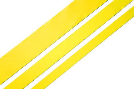 Diagonal ribbons on white background