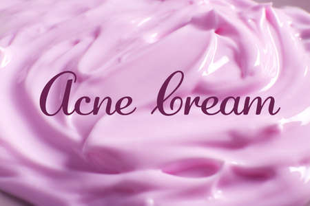 Beauty and skin care concept. Acne medication cream, closeup Stock Photo