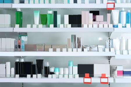 Verschillende producten in de winkel Stockfoto