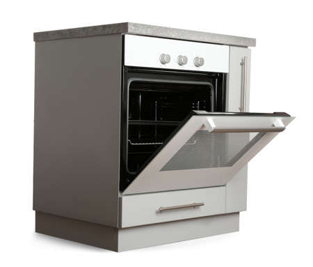 Kitchen cabinet with oven on white background Banco de Imagens