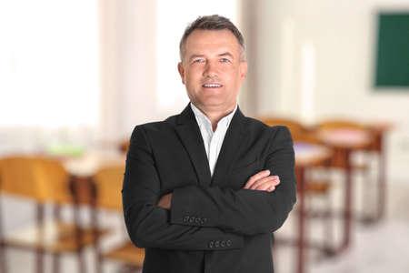 Dueño de negocio en su escuela privada