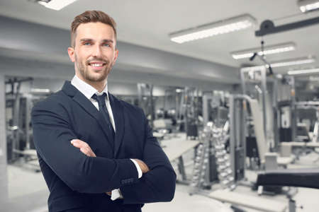 Owner of business in his gym