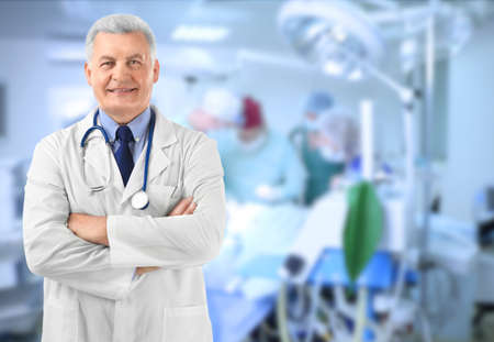 Owner of business in his private clinic Stock Photo