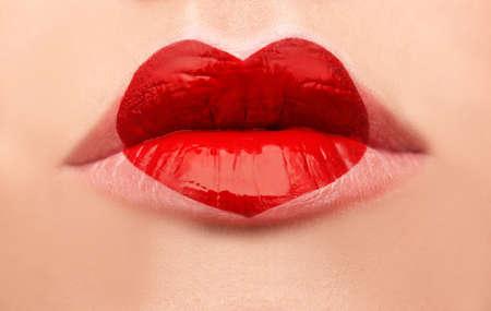 Woman with romantic makeup, closeup