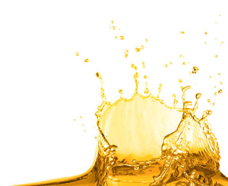 Cooking oil splash on white background