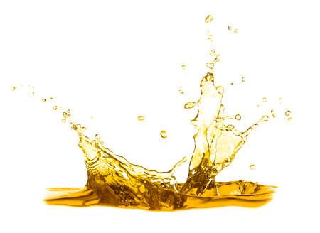 Rozchlapać olej do smażenia na białym tle