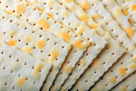 Matzo for Passover close up