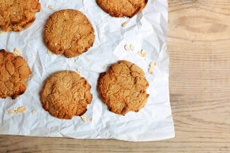 Homemade cookies on paper close up Stock Photo