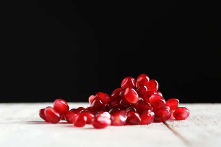 Fresh ripe garnet on dark background Stock Photo