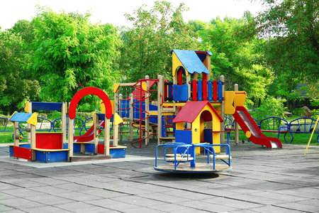 Colorful children playground in park
