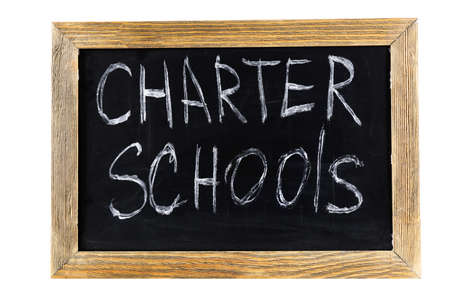 黒板に書かれたチャータースクール