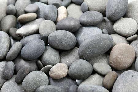 Gray sea pebbles background Stock Photo