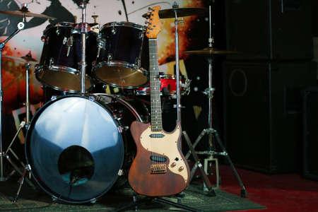 Rock band instruments Imagens