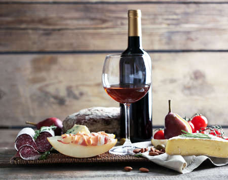 Still life with various types of Italian food and wine Reklamní fotografie