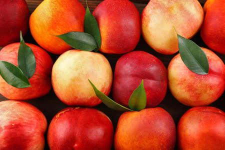 Fresh peaches background 版權商用圖片