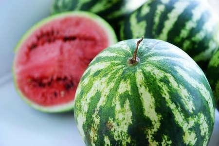 Watermelons closeup Stock Photo