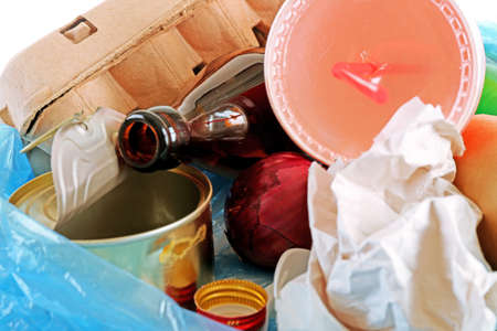 pile of rubbish, close-up