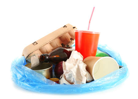 pile of rubbish, isolated on white