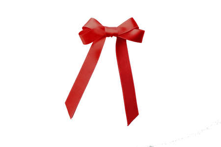 Red bow, isolated on white