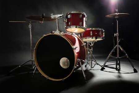 ステージ上のドラムセット 写真素材