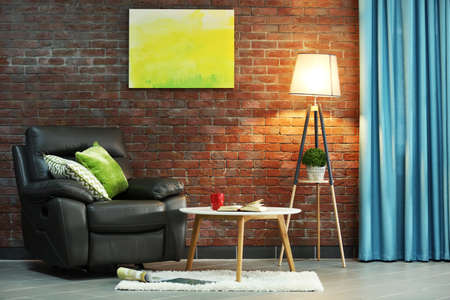 Modern living room interior 스톡 콘텐츠