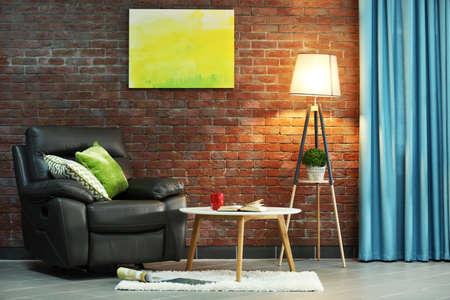 Modern living room interior Foto de archivo