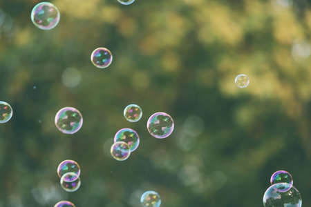Soap bubbles outdoor Stok Fotoğraf