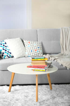 Sofa and armchair in living room
