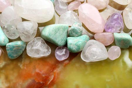 Semiprecious stones closeup