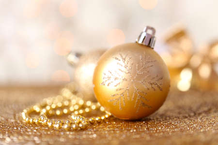 Beautiful Christmas composition on abstract shiny background