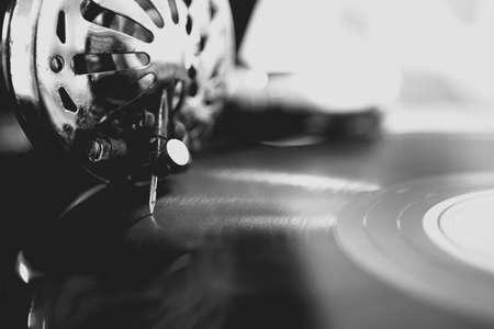Old gramophone closeup Standard-Bild