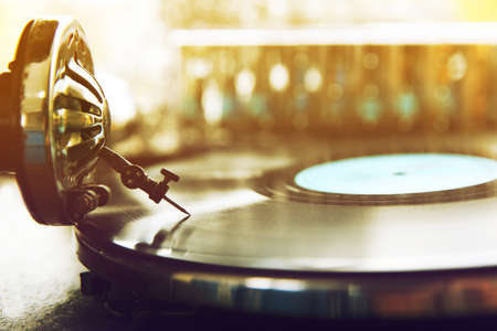 Old gramophone closeup 스톡 콘텐츠