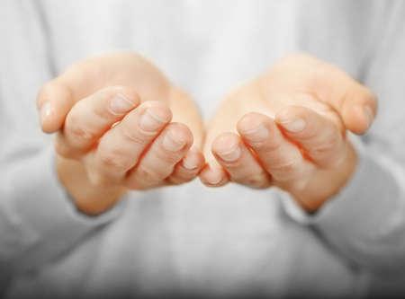 Primer plano de manos humanas Foto de archivo