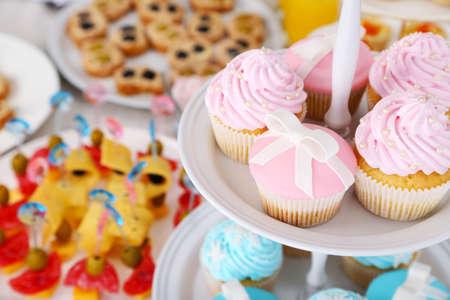Delicious cupcake, closeup