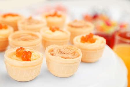 Set of cold snacks, closeup