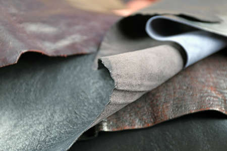 Ragged leather material background