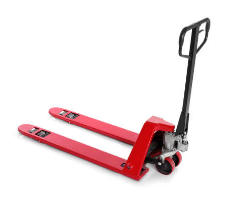 Hand pallet truck, isolated on white