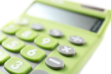 Calculator, closeup Stock Photo