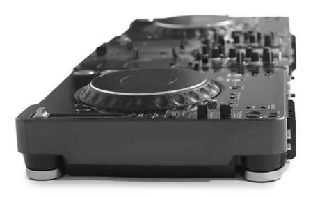 DJ mixer isolated on white