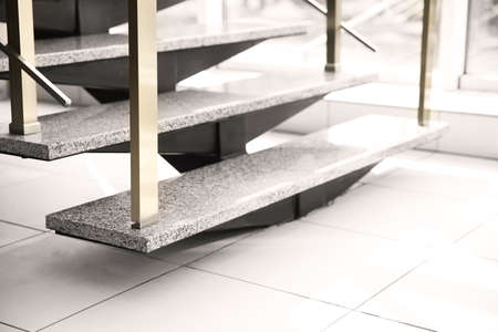 Modern stairs in office, close up