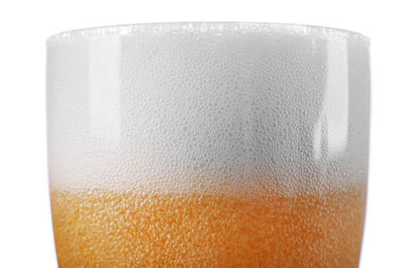 Big glass on beer isolated on white Stock Photo