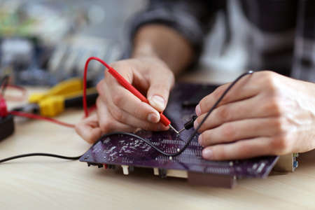 Professional engineer repair computer details Banque d'images
