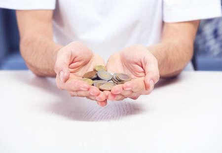 Man holding money Archivio Fotografico