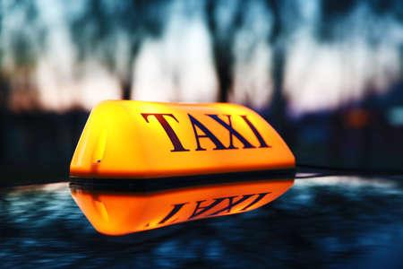 Taxi car on street Stock Photo