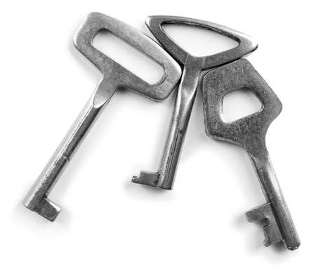 Three keys, isolated on white Stock fotó