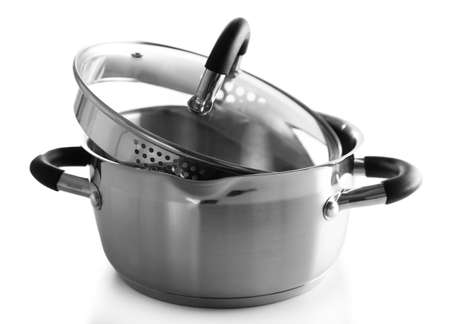 Metal pan isolated on white