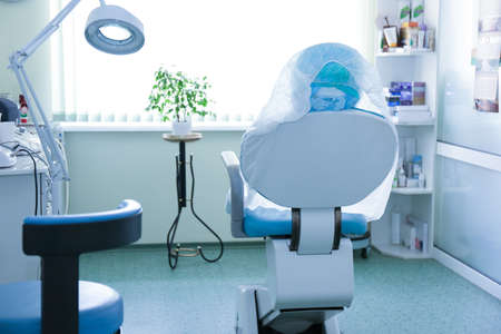 Modern equipment in cosmetology clinic Stock Photo
