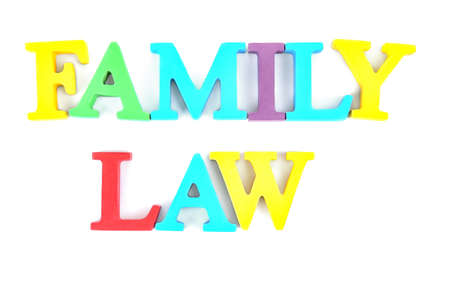 Family law concept on white background