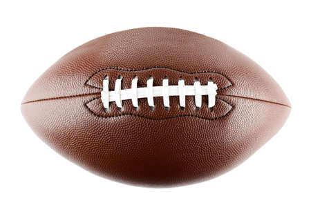 American football ball, isolated on white